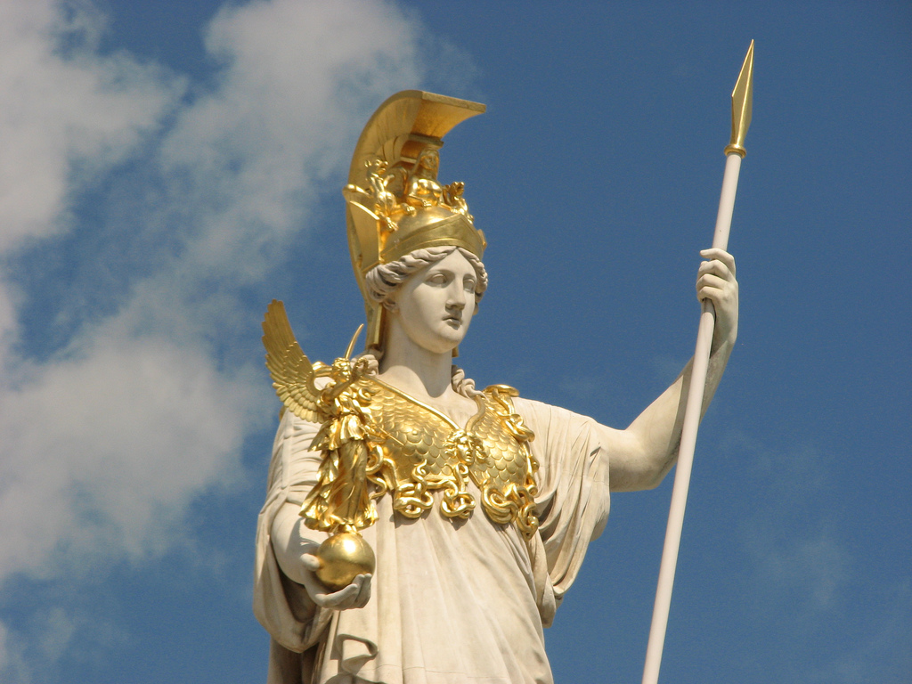 birth of athena athenagoddess of wisdom and war